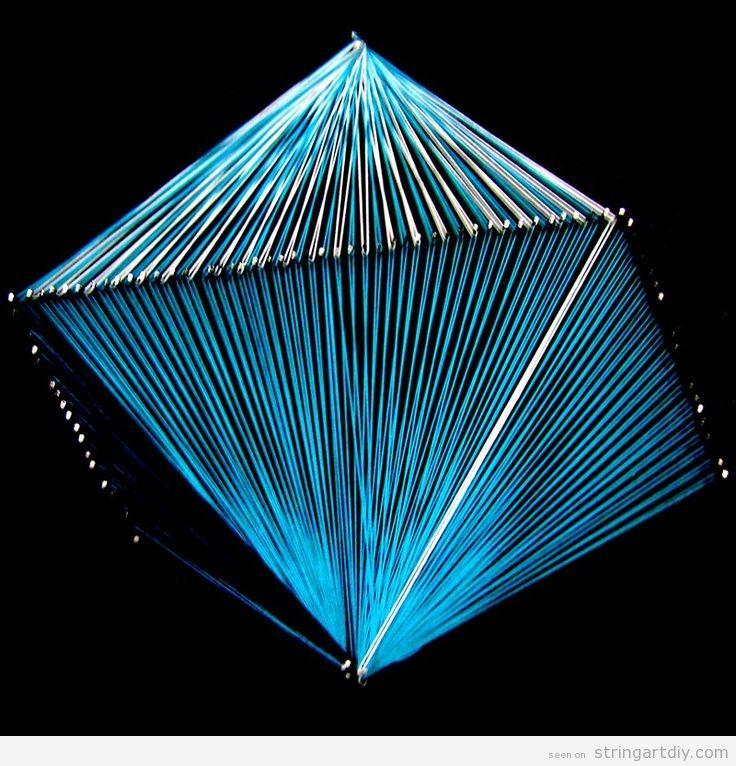 Geometrical String Art Octahedron