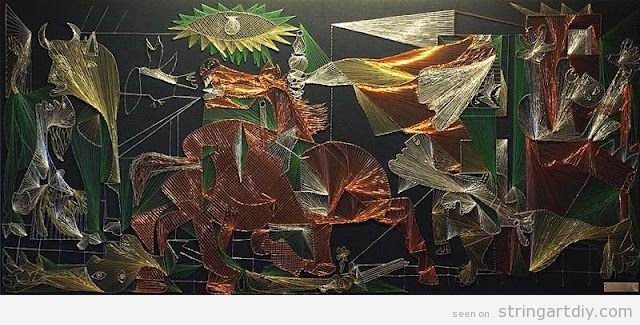 String Art, Guernica by Picasso