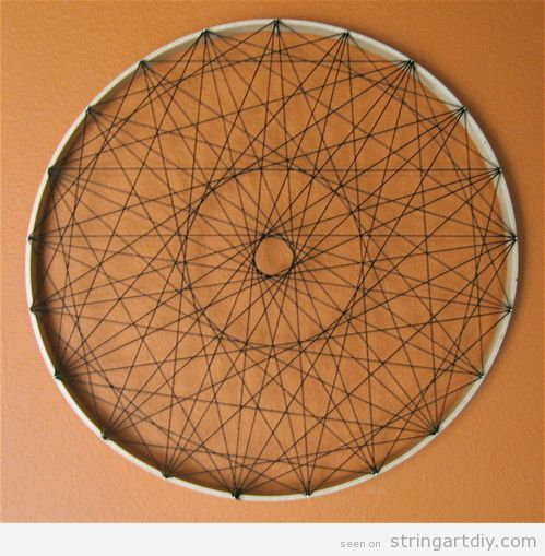 Wall String Art rounded