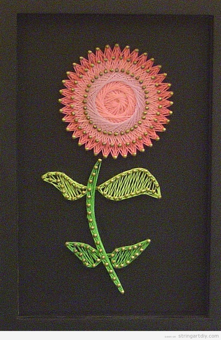 Flower Shaped String Art