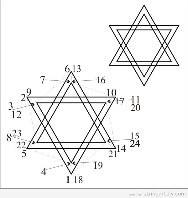String Art free Pattern, Star of David
