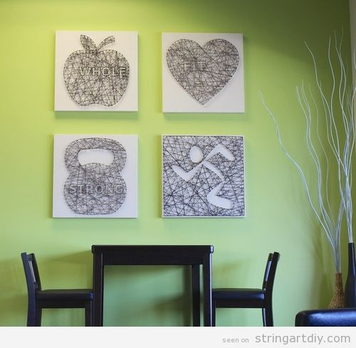 4 Wall String Art to decorate a gym