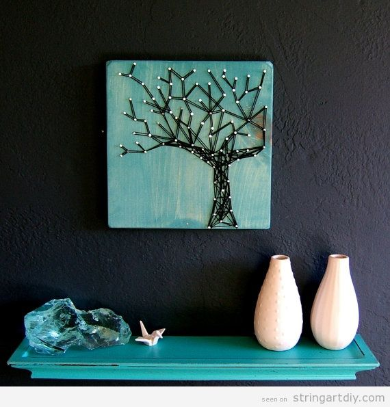 Wall String Art, tree