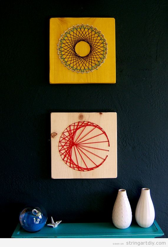 Minimalist and round shaped String Art DIY Wall Decor