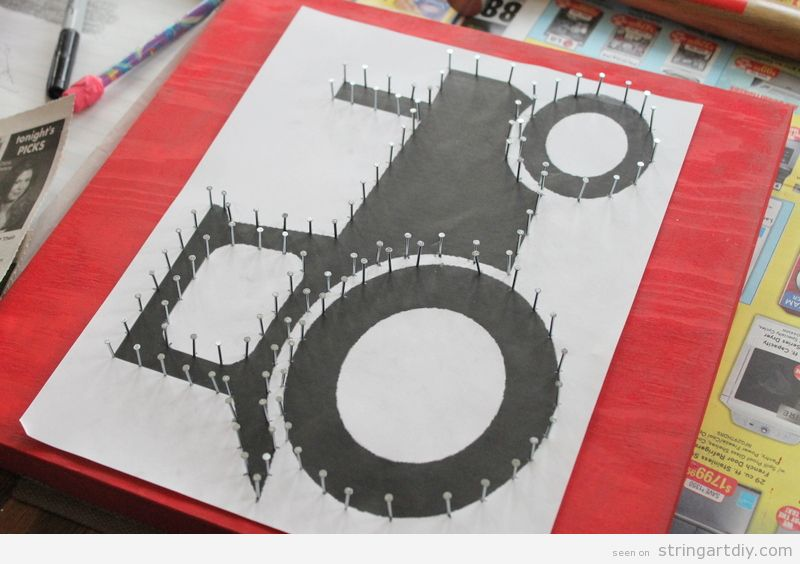 Truck or Tractor, String Art for kids