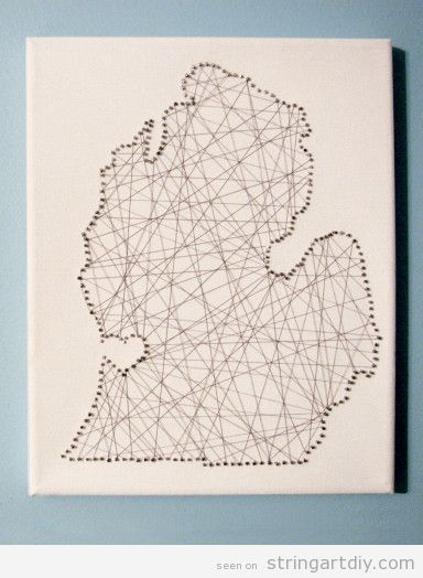 Map String Art DIY