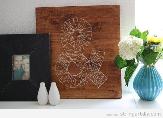 Ampersand symbol String Art DIY wall decoration