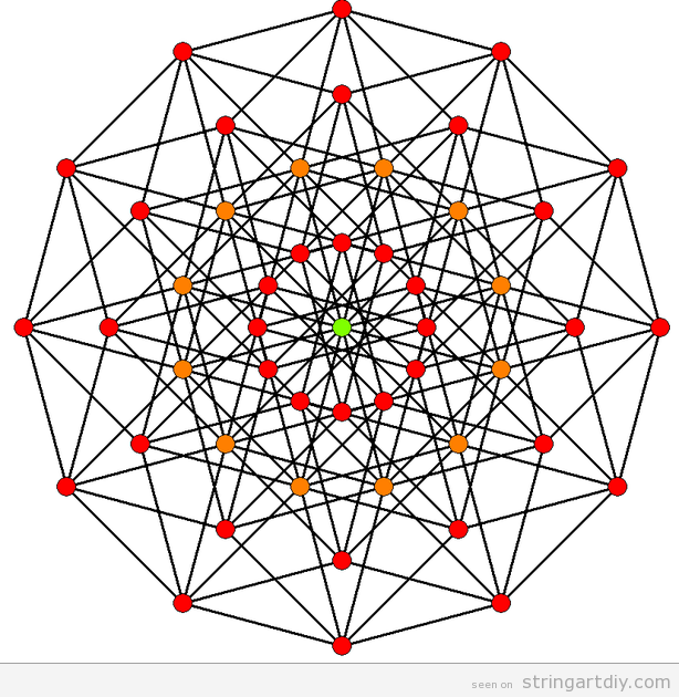 Geometrical String Art Free Pattern