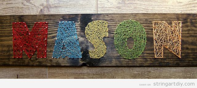 Letter String Art fonts to write a name
