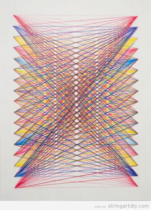 Geometric archives string art diystring art diy for Geometric wall art diy