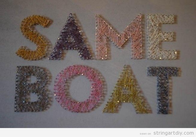 Same Boat String Art DIY