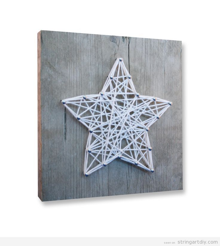 Star String Art DIY