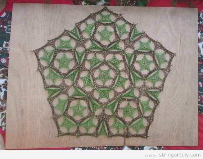 Decorative pentagone String Art DIY