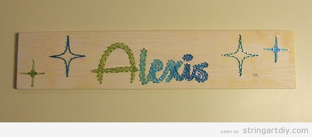 String Art DIY name, Alexis