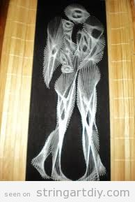String Art DIY, Couple in love