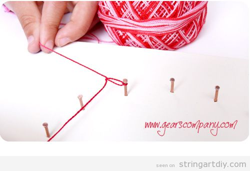 String Art for Kids Tutorial, step 4