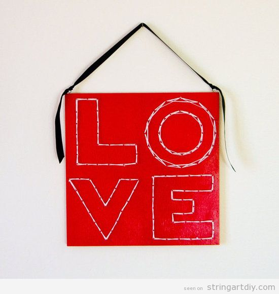 String Art DIY for Valentine's,