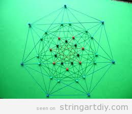 Geometrical polytope String Art