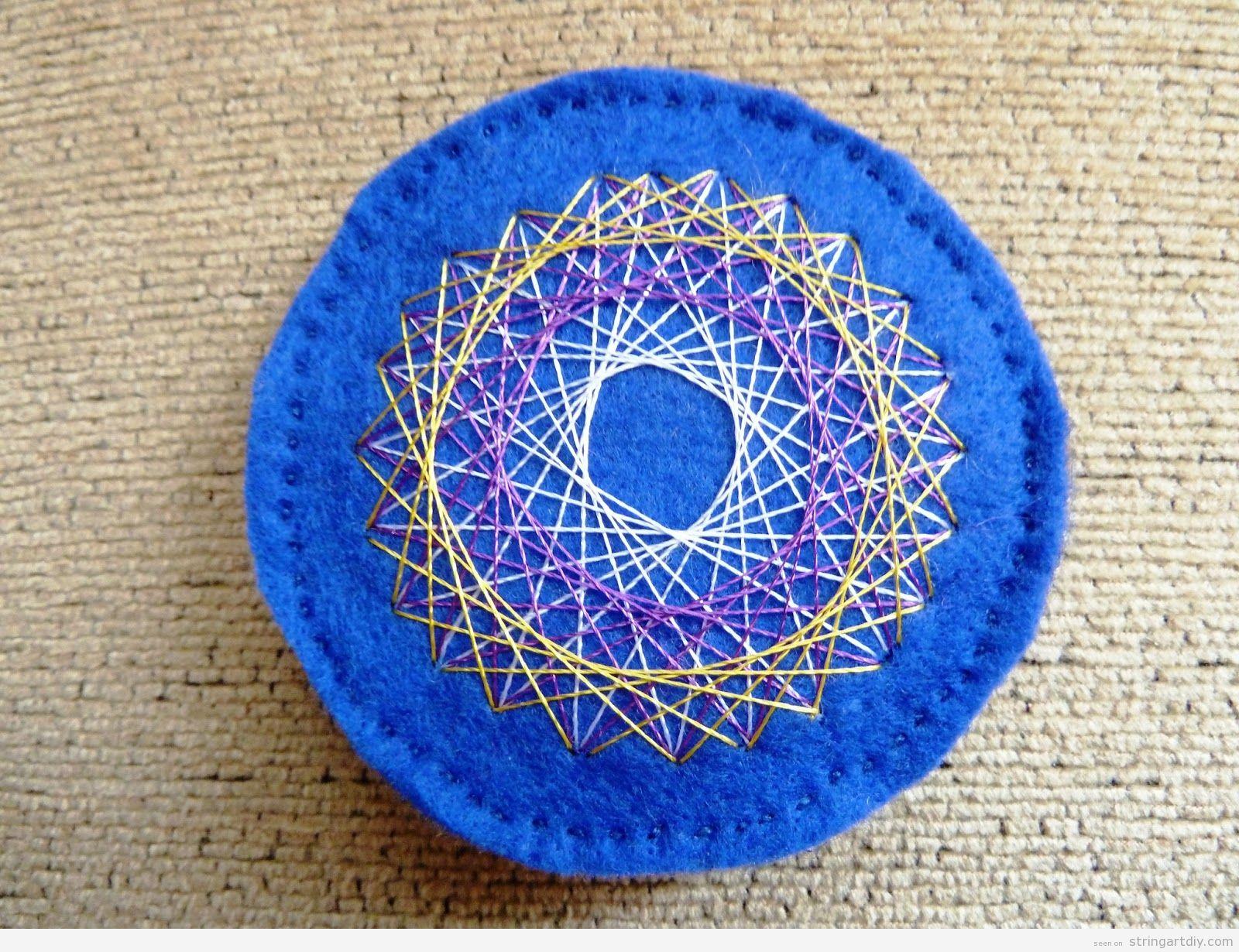 Felt Brooch String Art