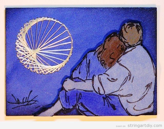 Lover's Moon String Art