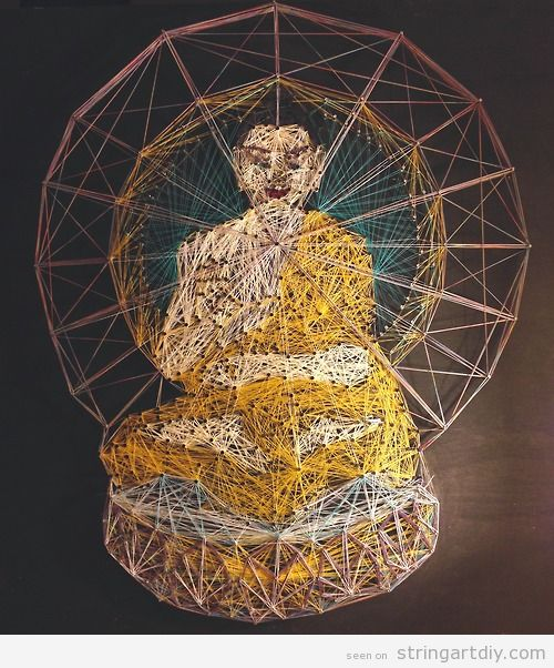 Buddha String Art DIY