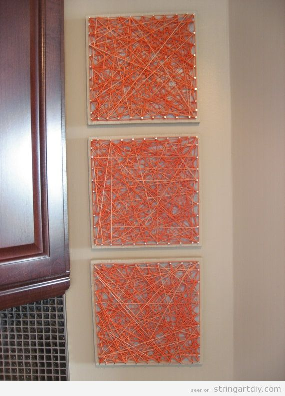 String Art panels to decorate a wall