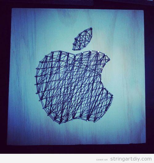 Apple String Art DIY