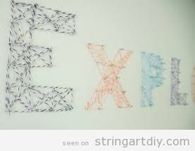 String Art DIY wall decoration