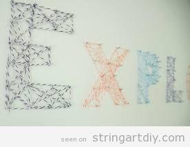 String Art DIY wall decoration