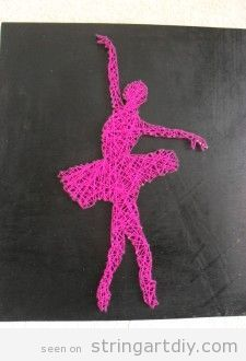 Ballet dancer , ballerina String Art DIY