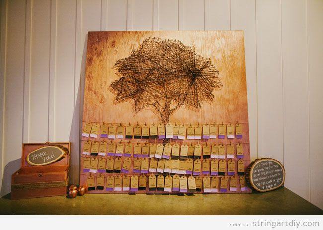 string art tree ideas wedding decoration String Art Tree, wedding decoration