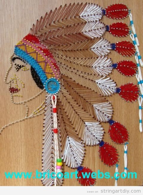 native american string art Native American String Art