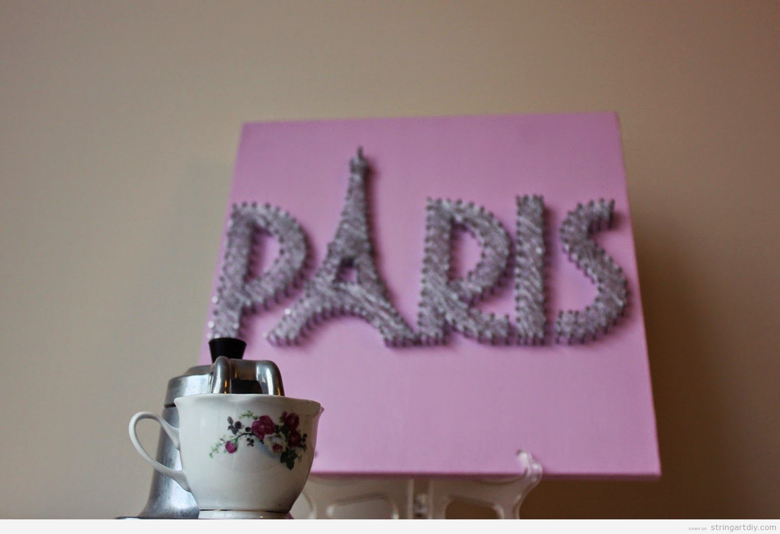 Paris Wall String Art DIY ideas