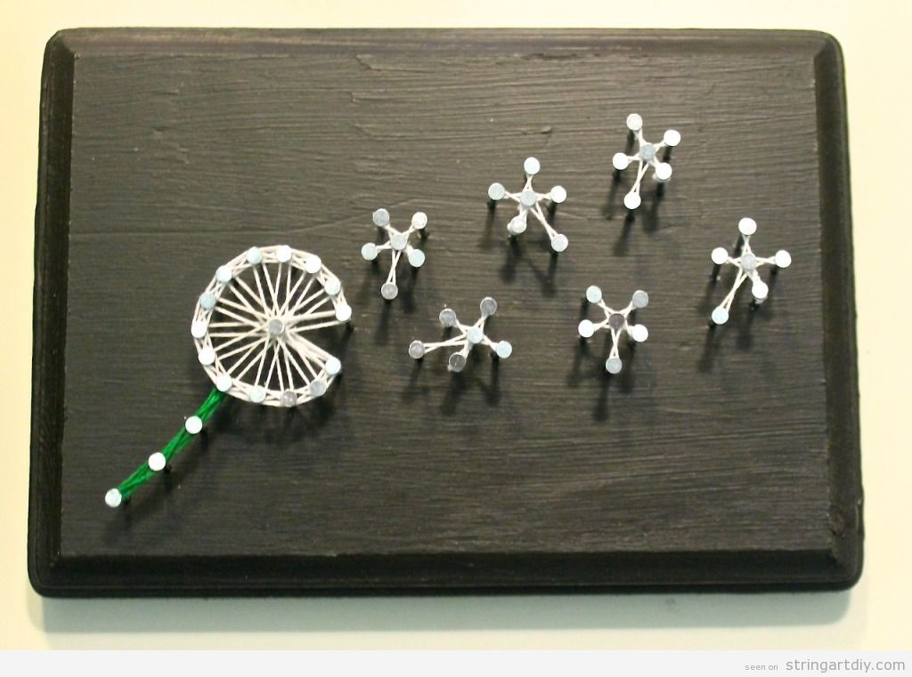 Dandelion String Art DIY