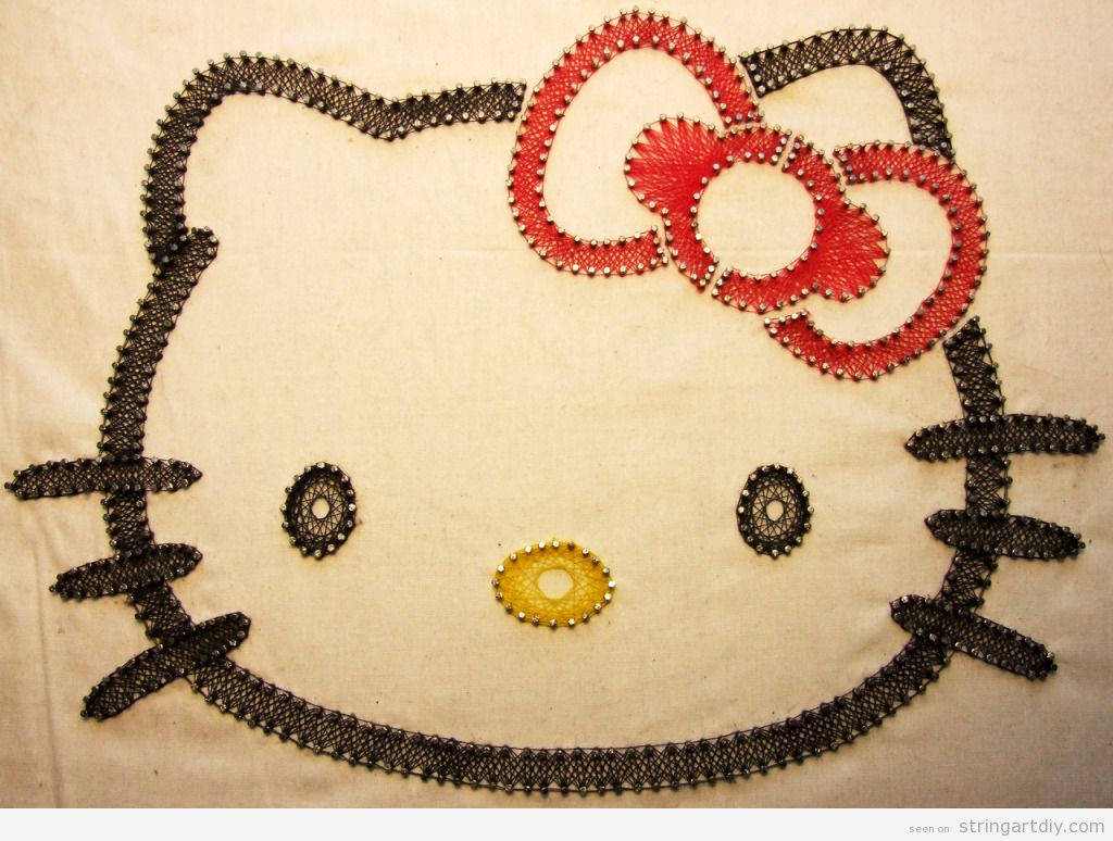 Hello Kitty String Art DIY