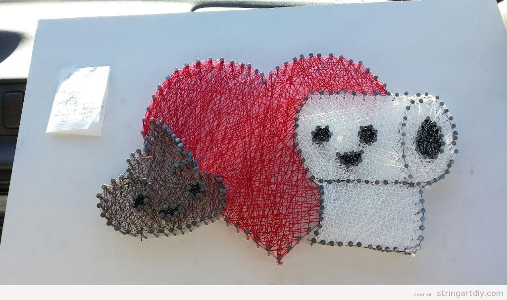 Poop, heart and wc paper shaped String Art