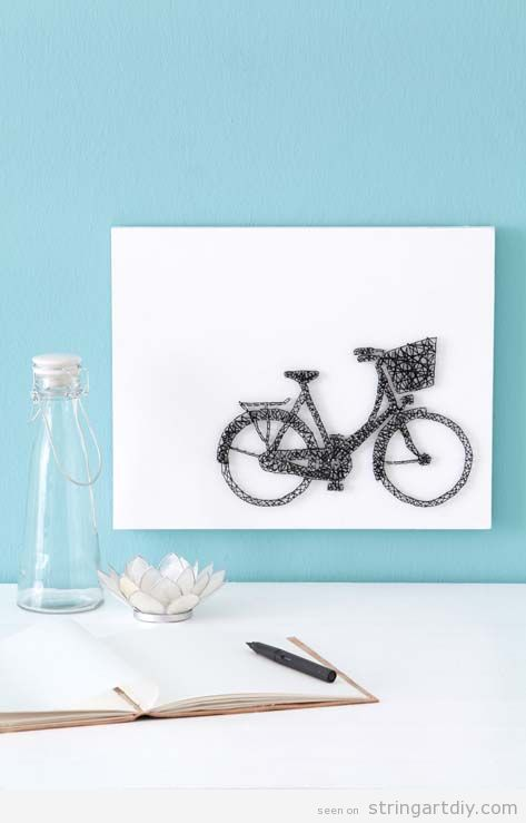 Bicycle String Art tutorial