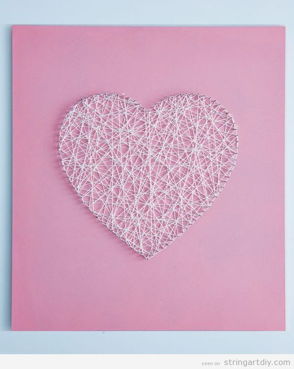 Heart String Art, handmade gift for Valentine's