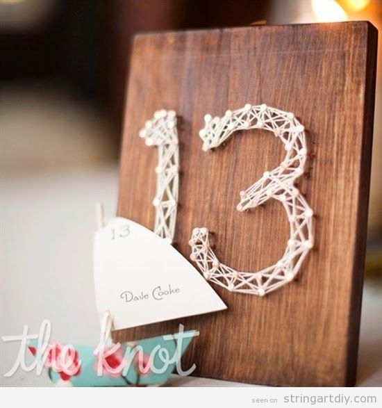 Table number String Art, wedding decoration