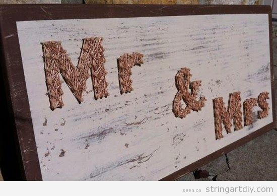 Mr & Mrs, String Art wedding decoration