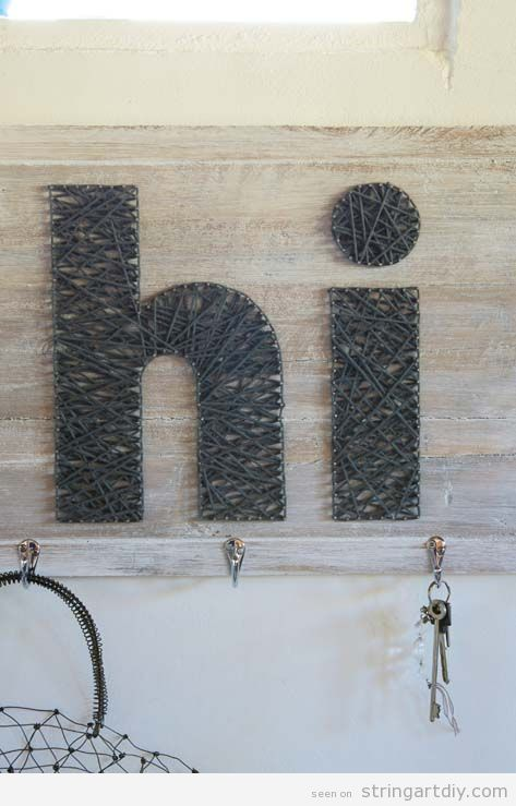 Hi String Art, idea to decorate a entrance hall