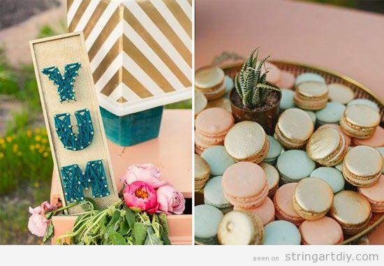Wedding Candy Bar, Yum String Art