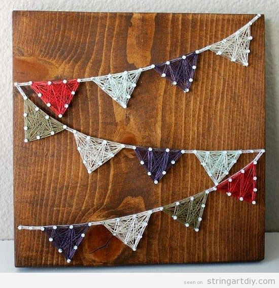 Triangle garland String Art DIY
