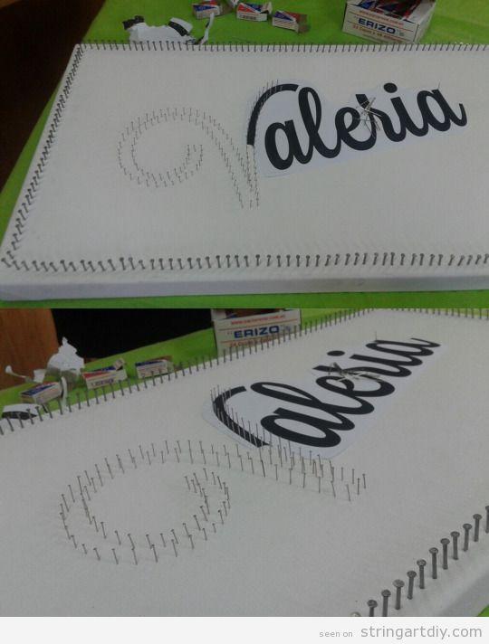 Valeria name String Art tutorial