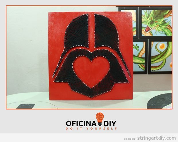 Darth Vader Valentine's String Art Tutorial