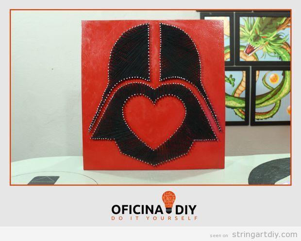 Darth Vader Valentine's String Art Tutorial