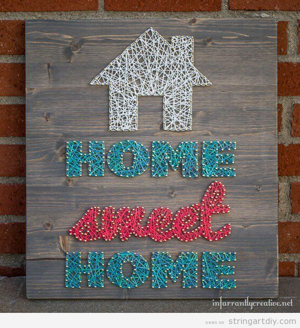 String Art Home Sweet home Tutorial