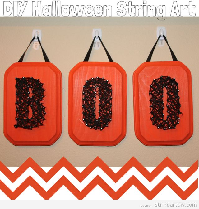 BOO, Halloween String Art DIY