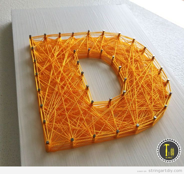 letter d string art diy