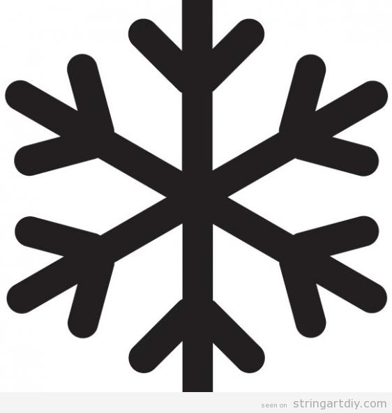 String Art snowflake pattern